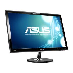 Asus 21.5 LED Monitor VK228H, 1920 x 1080, 5ms, 80M1, VGA, DVI, HDMI, HD Webcam, Speakers, VESA