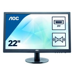AOC 21.5 LED TFT 2275SWJ, 1920 x 1080, 2ms, VGA, DVI, HDMI, Speakers, 3 Years On-site Warranty