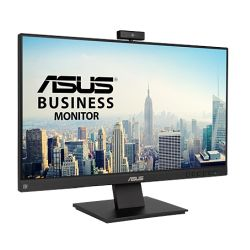 """Asus 23.8"""" Frameless Business Monitor (BE24EQK) with FHD Webcam, Mic Array, IPS, 1920 x 1080, VGA, HDMI, DP, Speakers, VESA"""