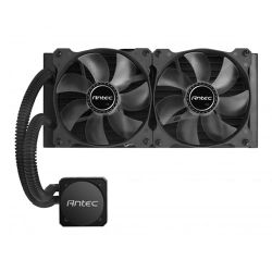 Antec H1200 PRO Liquid CPU Cooler, 240mm Radiator, 12cm Blue LED Fans, High Performance Pump