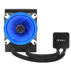 Antec Kuhler H20 K120 Liquid CPU Cooler, 12cm PWM Blue LED Fan, Low Profile