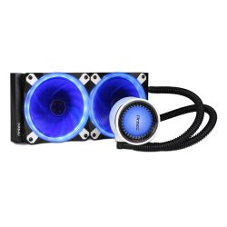 Antec Mercury 240 Liquid CPU Cooler, 240mm Radiator, 12cm PWM Fan - Temp Indicating LED Colours