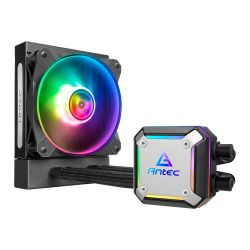 Antec Neptune 120 Liquid CPU Cooler, 120mm Radiator, 12cm PWM ARGB LED Fan, Ultra-Thin ARGB CPU Block