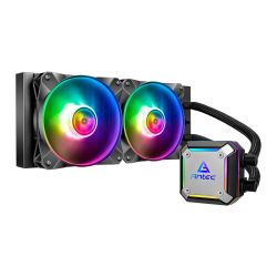 Antec Neptune 240 Liquid CPU Cooler, 240mm Radiator, 12cm PWM ARGB LED Fan, Ultra-Thin ARGB CPU Block