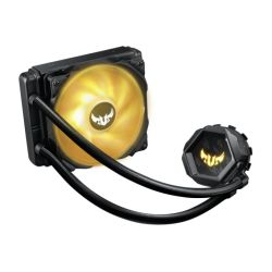 Asus TUF GAMING LC120 RGB Liquid CPU Cooler, TUF Durability & Style, RGB PWM Fan