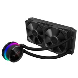 Asus ROG Ryuo 240mm Liquid CPU Cooler, 2 x 12cm PWM Fan, Full Colour OLED Display, RGB