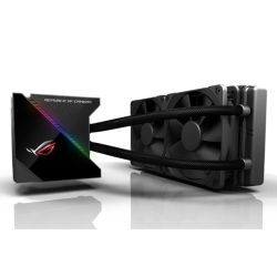 Asus ROG Ryujin 240mm Liquid CPU Cooler, 2 x 12cm Noctua Industrial PPC PWM Fans, Full Colour OLED Display, RGB