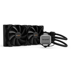 Be Quiet! Pure Loop 280mm Liquid CPU Cooler, 2 x 14cm Pure Wings 2 PWM Fans, White LED Lighting