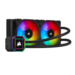Corsair iCUE H100i ELITE CAPELLIX 240mm RGB Liquid CPU Cooler, 2 x 12cm ML120 RGB PWM Fans