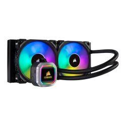 Corsair Hydro H100i RGB Platinum 240mm RGB Liquid CPU Cooler, 2 x 12cm PWM Fans