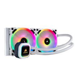 Corsair Hydro H100i RGB Platinum SE 240mm RGB Liquid CPU Cooler, 2 x LL120 12cm PWM Fans