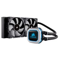 Corsair Hydro H100i PRO 240mm RGB Liquid CPU Cooler, 2 x 12cm PWM Fans