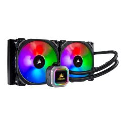 Corsair Hydro H115i RGB Platinum 280mm Liquid CPU Cooler, 2 x 14cm ML PRO RGB Fans, RGB Pump Head