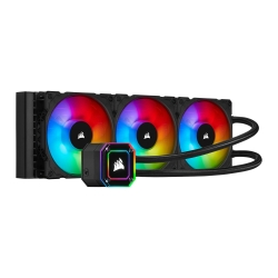 Corsair iCUE H150i ELITE CAPELLIX 360mm RGB Liquid CPU Cooler, 3 x 12cm ML120 RGB PWM Fans, Black