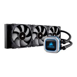 Corsair Hydro H150i Pro 360mm RGB Liquid CPU Cooler, 3 x 12cm PWM Fans, LED Pump Head