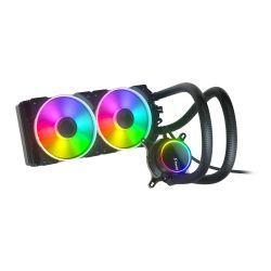 Fractal Design Celsius+ S24 Prisma 240mm ARGB Liquid CPU Cooler, PWM Fan Hub, ARGB Pump, 2x Prisma AL-12 PWM ARGB Fans