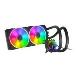 Fractal Design Celsius+ S28 Prisma 280mm ARGB Liquid CPU Cooler, PWM Fan Hub, ARGB Pump, 2x Prisma AL-14 PWM ARGB Fans