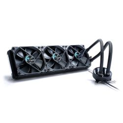 "Fractal Design Celsius S36 360mm Liquid CPU Cooler, 3 x 12cm PWM Fans, Intelligent Temp-Control, Fan Hub, G 1/4"" Thread, Blackout"