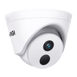 TP-LINK VIGI C400HP-4 3MP Indoor Turret Network Security Camera w 4mm Lens, PoE12V DC, Smart Detection, Smart IR, WDR, 3D DNR, Night Vision, H.265+