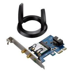 Asus PCE-AC55BT AC1200 300+867 Wireless Dual Band PCI Express Adapter, Bluetooth 4.0, Ext Antenna Base