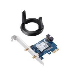 Asus (PCE-AC58BT) AC2100 (433+1733), Wireless Dual Band PCI Express Adapter, Bluetooth 5.0, MU-MIMO, External Antenna