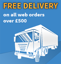 Free shipping on any orders over 500 Inc VAT